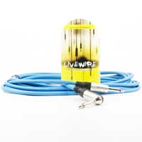 LiveWire 6.35mm Male Mono Jack to 6.35mm Right-Angled Male Mono Jack Blue 6m