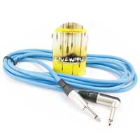 "LiveWire 6.35mm Male 1/4"" Mono Jack to Angled 6.35mm Jack Cable Audio Lead Blue 3m"