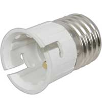 Mercury Bayonet Edison Screw Fitting Adaptor (B22 to E27)