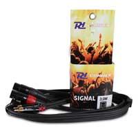 PD Connex 2x XLR Female - 2x RCA Male 3M Cable