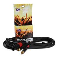PD Connex 2x XLR Male - 2x RCA Male 3M Cable