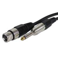 Skytec XLR Female To 6.35mm Jack Microphone Cable 6m