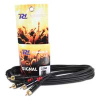 Power Dynamics Male to Male Twin RCA Phono Cable 3M