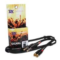 PD Connex 2x 6.35mm Jack - 2x RCA Male 1.5M Cable