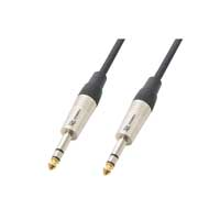 High Quality Stereo Jack 6.3mm to Jack Lead Signal Cable Studio Mobile DJ 3.0m