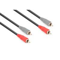 Vonyx 177.786 2x RCA Male - 2x RCA Male Signal Cable 3m