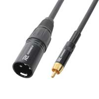 PD Connex 3 Pin Male XLR to RCA Mono Plug Cable 3m
