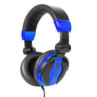 DJ Headphones PH200 Blue Extra Bass Stereo Headband Studio Monitor Hifi Cans