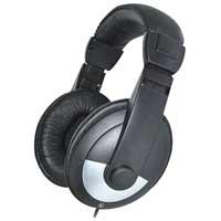 Pro-Signal Stereo DJ Headphones, Black/Silver