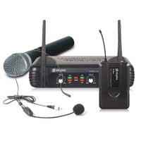 Skytec STWM722C Wireless Handheld & Bodypack Microphone System (UHF 2-Channel)