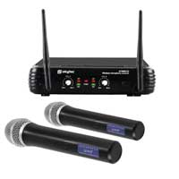 Skytec STWM722 Wireless Handheld Microphone System, Set of 2 (UHF 2-Channel)
