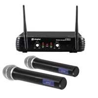Skytec STWM722 2 Chan Wireless Handheld UHF Microphones