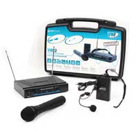 Skytec VHN2 Wireless Handheld & Bodypack Microphone System Set, (VHF 2-Channel)