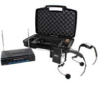 Skytec Neckband Wireless Microphone System, VHF