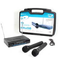 QTX HAND HELD VHF WIRELESS MICROPHONE SYSTEM