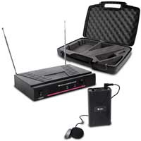 Skytec VHF Wireless Microphone System with Clip-On Mic