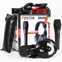Fenton SH400 DJ Microphone & Headphones Set