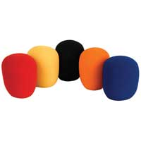 5x QTX Sound Coloured Microphone Windshields