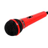 Soundlab Mr Entertainer Plastic Karaoke Microphone Red