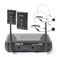 Vonyx STWM712H VHF Wireless Headset Microphone System