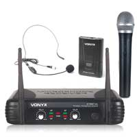 Vonyx STWM712C VHF Wireless Headset & Handheld Microphone System