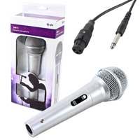 QTX Sound Silver Handheld Dynamic Microphone