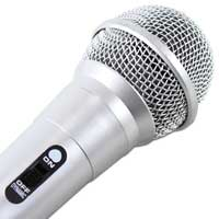 QTX Sound Silver Handheld Dynamic Microphone