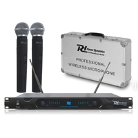 PD Dual 2 Channel UHF Wireless Rackmount Radio Microphone System DJ PA Church