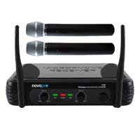 Twin Handheld Wireless Radio Mic System Band Vocal Karaoke Microphones