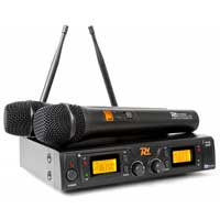 PD PD782 Wireless Handheld Microphone System, Set of 2 (UHF 8-Channel)