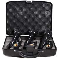 Vonyx VX1800S Wired Karaoke Microphones Set, with Case & Clips