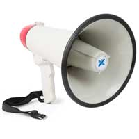 Vonyx MEG0405 Compact Light PA Record Siren USB/SD/Aux MP3 Player Megaphone 40W