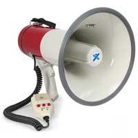 Vexus MEG050 Compact Lightweight PA Record Siren Volume Control Megaphone 50W