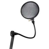 Wind Pop Filter Mask Shield for Microphone Mic with Stand Clip Studio Recording