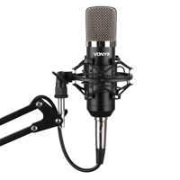 Vonyx Desktop Condensor Microphone with Boom Arm Stand