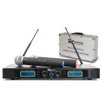 Power Dynamics 179.130 PD732H 2x 16-Channel UHF Wireless System & 2 Microphones