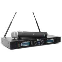 PD PD732H Wireless Handheld Microphone System, Set of 2 (UHF 16-Channel)
