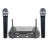 Vonyx STWM712 Wireless Handheld Microphone System, VHF 2-Channel