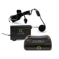 Q Audio QWM1900-HS Wireless Bodypack Microphone System, Set of 2 (UHF)