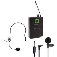 Q Audio QWM 1940 V2 BP UHF Bodypack Transmitter Lavalier / Headset Mic