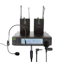 Q Audio QWM1960-V2-BP Wireless Bodypack Microphone System, Set of 2 (UHF)