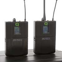 Q Audio QWM1960-V2-BP Wireless Bodypack Microphone System, Set of 2 (UHF)