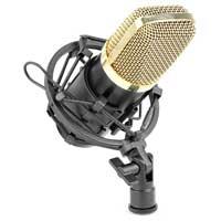 Vonyx 173.404 CM400B Black/Gold Studio Condensor Microphone 48V