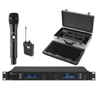 Power Dynamics PD632C 2ch Wireless Microphone UHF +1 Hand / 1 Bodypack Mic