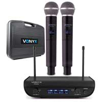 Vonyx WM82 Dual Wireless Karaoke Microphone System