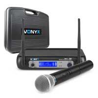 Vonyx WM511 VHF Wireless Microphone Set with Handheld Mic