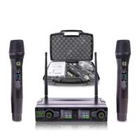 Q Audio QWM1950 Wireless Handheld Microphone System, Set of 2 (UHF)
