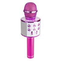 Max KM01 Kids Karaoke Microphone Pink - Bluetooth & MP3