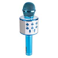 Max KM01 Kids Karaoke Microphone Blue - Bluetooth & MP3