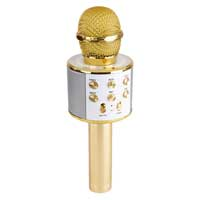 Max KM01 Kids Karaoke Microphone Gold - Bluetooth & MP3